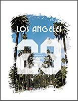 【FOX REPUBLIC】【ロサンゼルス ロゴ ヤシの木 ブラシ】 白光沢紙(フレーム無し)A2サイズ