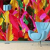 Ansyny カスタム3d壁画壁紙現代の抽象壁アートの装飾壁画カラフルな羽柄リビングルームの寝室の背景壁紙-160X120CM