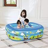XSWZAQ 余分な厚さの滑り止めの防水と防湿バブルボトム子供のホームウォーターパーク大インフレータブルプールの漫画の色
