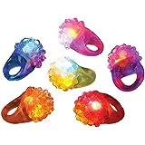 [RINCO]RINCO Bumpy Flashing Ring 12 Pack Assorted [並行輸入品]
