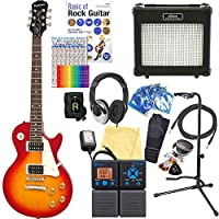 エピフォン エレキギター レスポール Epiphone LP-100 HCS Les Paul 初心者 18点セット 【ZOOM G1on マルチエフェクター付】