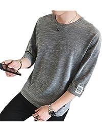 夏服 メンズ Tシャツ メンズ 半袖 カットソー 七分袖 五分袖 おしゃれ 快適な 無地 軽い 柔らかい カジュアルな服装