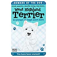 Wags and Whiskers 204030040 Sign-West Highland Terrier, Large, Multicolor [並行輸入品]