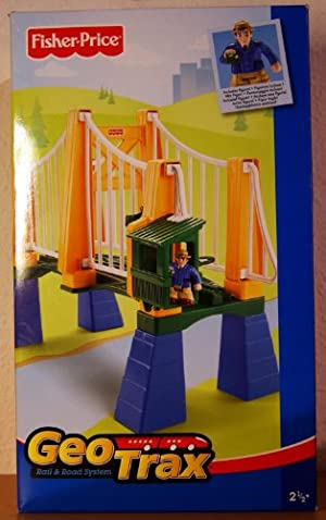 GeoTrax Sky High Suspension Bridge with フィギュア(並行輸入)