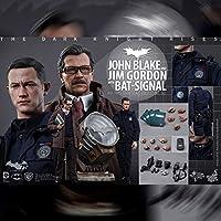 ホットトイズ ジョン・ブレイク&ジム・ゴードン(2体セット) [バットシグナル投光器付き] バットマン ダークナイト