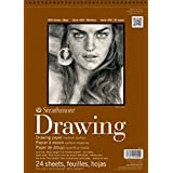 """Strathmore 400 Series Drawing Pad, 9""""x12"""" Wire Bound, 24 Sheets"""