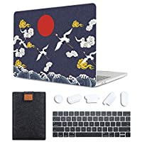 MAITTAO Case For MacBook Pro 16 inch 2019 Release A2141, Plastic Pattern Hard Shell & Laptop Sleeve Bag & Keyboard Cover For Mac Pro 16-inch Retina Touch Bar & ID 4 in 1 Bundle, Totem Crane 6