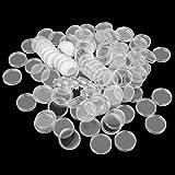 【ノーブランド品】コレクション コインカプセル コイン 収集 記念 硬貨 収納 便利 ケース ホルダー 100pcs 全4サイズ - 27ミリメートル