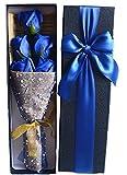 【kshop】 花 プレゼント 造花 クリスマス バレンタインデー ホワイトデー 父の日 母の日 誕生日 等 お祝い 時の プレゼント に最適 薔薇の花束 【 青 5本 】