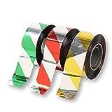SunnyBran 鳥よけ 反射テープ 害鳥 鳥害 フン害 対策グッズ カラス ハト 飛来防止 2.5cm×90m 3色セット