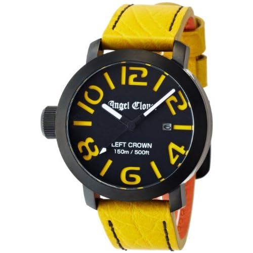 [エンジェルクローバー]Angel Clover 腕時計 LEFT CROWN ブラック/レッド文字盤 ステンレス(BKPVD)ケース LC45BYE-YE メンズ