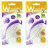 Pearlie White Flosspick Y 2-IN-1 Premium Back Teeth Flosser (36 picks), Pack of 2