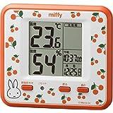 miffy(リズム時計) 【高精度温湿度計】 ミッフィーT203 オレンジ色 掛置兼用タイプ 8RD203MM14