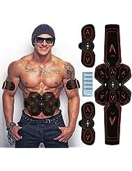 腹筋ベルト EMS ウエストベルト 筋トレ ダイエット器具 腹筋トレーニング 腹筋パッド 腕筋 多部位 6モード 10ランク強度 USB充電