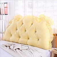 BZKD 背部のクッションのソファベッド大の充満したダブルベッドルームのベッド背もたれの枕の読書用の枕オフィス腰のパッドの取り外し可能なカバー (色 : B, サイズ さいず : 100*70cm)