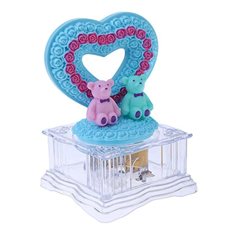 dovewill Bear / Swan回転LEDライト音楽ボックスClockwork Lovelyキッズ誕生日ギフト as described ecaebd65305a132075ea4dc502431b02