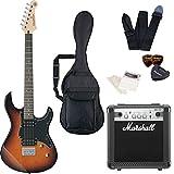 エレキギター ヤマハ PACIFICA120H マーシャルアンプ Marshall MG10CF 付属 入門8点セット 初心者セット ハムバッキング トレモロレス (TBS)