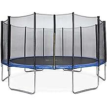 ALICE'S GARDEN - Garden Trampoline - Jupiter 16ft Trampoline with Safety net - Blue - PRO Quality   EU Standards