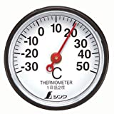 『シンワ 温度計 S-5 丸型 3.5cm 72675』の商品写真