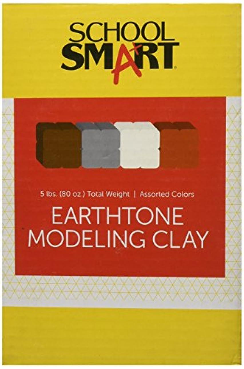 School Smart Clay Assortment - 0.6kg. per colour - Set of 4 Assorted Earthtone Colours