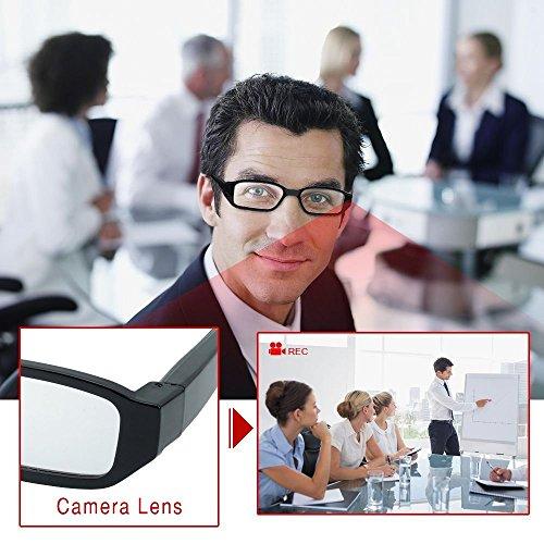 YAOAWE 超小型 隠しカメラ ミニ メガネカメラ スパイカメラ会議室専用 1080P HD 無孔小型 TFカード8G