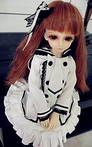 ドール 衣装 1/3 セーラー服 風 ゴスロリ コス と ソックス 5点 セット ( SD など 60cm 向け )