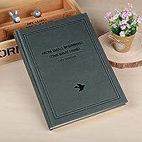 クリエイティブなシンプルな日記A5の目を肥厚させる学生ノートブックの文房具ハードコピービジネスメモ , simple black green bird - tuba