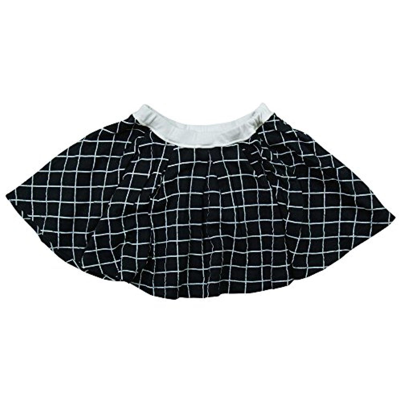 《春夏対応》 nico hrat(ニコフラート) 製品洗い加工済み 42/2天竺チェック柄スカート 120cm /NV NO.B-271302