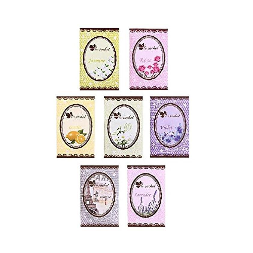 ぼかすタックミトンfunnytoday365 Good Smell 7味Fresh Air香りつきホームワードローブ引き出し車の香水Fragrance Sachetバッグ7pcsパック