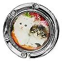 【OHAGI】 お出かけ先の必需品 アニマル バッグホルダー バッグハンガー カバンかけ かばんフック (猫)