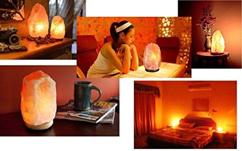 高品質 ヒマラヤ岩塩ランプ 2~3kg マイナスイオン発生 空気浄化と癒しの灯り ナチュラルクリスタル 岩塩ライト