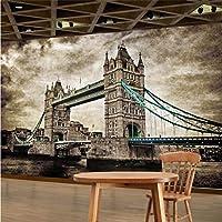 Wuyyii カスタム3D 3D壁紙Hdレトロロンドンタワーブリッジテレビソファ背景壁画リビングルーム - 150×120 Cm
