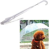 Balai ペット用 傘 傘付きリード犬用 雨のカバー わんちゃんお散歩用傘 透明傘 雨の日の散歩も大喜び ドライ 快適維持 小型犬~中型犬くらいまで