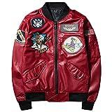 ブルゾン バイク ジャケット ma_1 ファション 長袖 ミリタリー カジュアル モード系 刺繍ワッペン