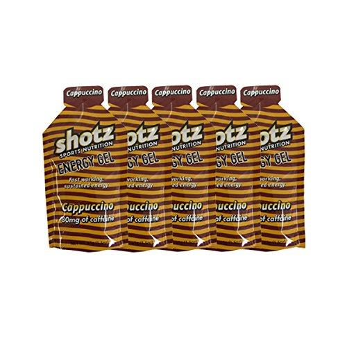 shotzショッツエナジージェル カプチーノ味 (45g×5個)カフェインプラス【補給食説明書付】