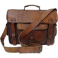 Madosh, Vintage Camera Bag Genuine Leather Briefcase Laptop DSLR Men's Bag