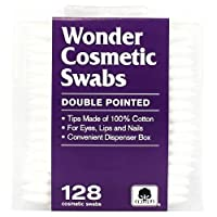 Wonder Double Pointed Cosmetic Swabs - 128 Count (並行輸入品)
