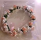 Amazon.co.jpおもてなし 結婚式 ブライダル お祝いに 花冠 フラワーヘッド パールカラーヘアピン3本付き