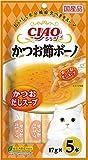 チャオ (CIAO) 猫用おやつ かつお節ボーノ かつおだしスープ 17g×5本入