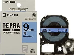 キングジム テープカートリッジ テプラPRO 9mm SC9B 青