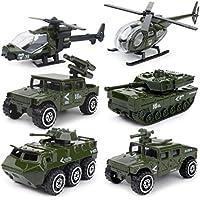 ミニカー ミリタリー 戦闘 車両 合金 & プラスチック製 6台 セット