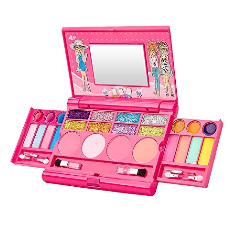 Tenflyer Girl Makeup Set Toys Eyeshadow Lip Gloss Blushes Princess Cosmetic Kit for Girls