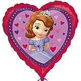 (アナグラム) Anagram Disney 子供用 ちいさなプリンセス ソフィア オフィシャル商品 ハート型 アルミ風船 パーティー バルーン 誕生日 (ワンサイズ) (パープル/ピンク)