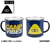 POLER ホーローマグカップ CAMP MUGS(2.BLU/ブルーXイエロー)