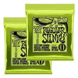 【Amazon.co.jp限定】正規品 ERNIE BALL 2221 エレキギター弦 (10-46) REGULAR SLINKY 2Set Pack