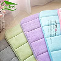 2, 400MMx600MM : 40*60Cm Bath Mat Memory Foam Rugs Cotton Bedroom Carpet Absorbent Non-Slip Bathroom Mats 12 Colors