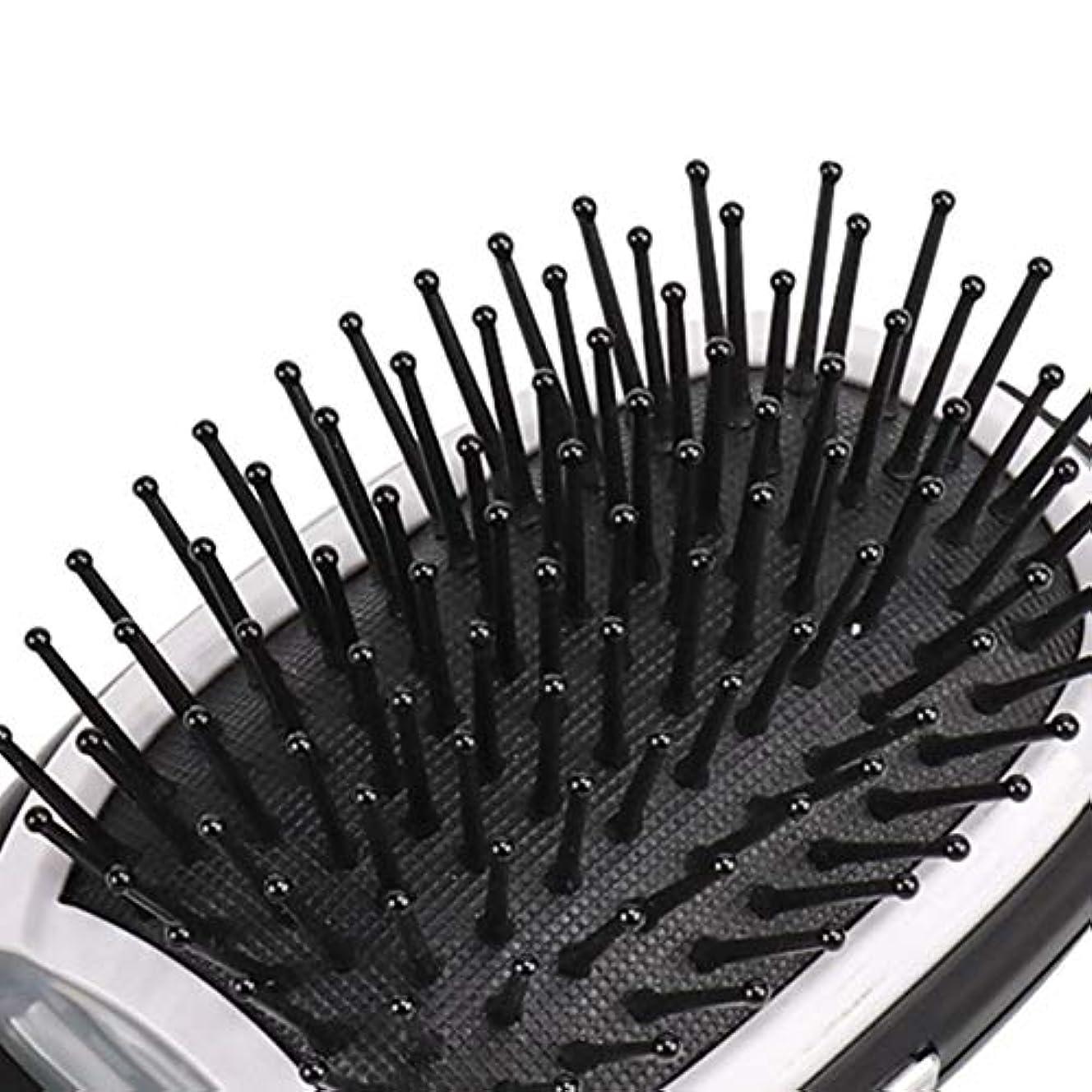 一貫したシーフード視線電気イオンヘアブラシマイナスイオンポータブル電気イオンヘアブラシヘアコームブラシヘアモデリングヘアブラシ