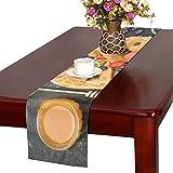 LKCDNG テーブルランナー 美味しいパンケーキ クロス 食卓カバー 麻綿製 欧米 おしゃれ 16 Inch X 72 Inch (40cm X 182cm) キッチン ダイニング ホーム デコレーション モダン リビング 洗える