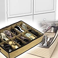 Icehan 靴オーガナイザー 4つ 収納ボックス 48ペア収納 靴オーガナイザー クローゼット収納