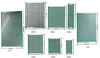 "Elec4U 20枚 8サイズ ユニバーサル プロトタイプ , プリント基板, 印刷回路基板,PCBボード, 0.06"" 厚い、0.1""ピッチ、グリーン,Rohs"